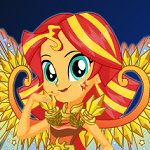 Legend of Everfree Sunset Shimmer Dress Up